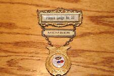Antique IOOF Odd Fellows Badge Pin Phenix Lodge Fraternal Historical Memorabilia
