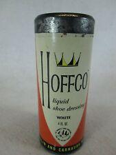Vintage Hoffco white liquid shoe dressing glass bottle and box