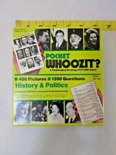 VINTAGE 1985 POCKET WHOOZIT? STRATEGY PICTURE GAME HISTORY POLITICS