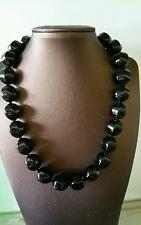 SS 925 Onyx schwarz 45cm Halskette Collier gestempelt tolle Qualität
