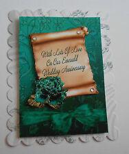 Pack 2 notre mariage émeraude anniversaire topper embellissement pour cartes ou artisanat