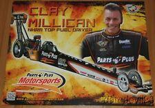 2014 Clay Millican Parts Plus Top Fuel NHRA postcard