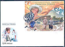 GUINEA BISSAU 2012 PRINCESS DIANA 15TH MEMORIAL ANNIVERSARY SOUVENIR SHEET FDC