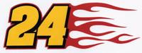 JEFF GORDON #24 Decal racing nascar Flame