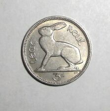 Ireland 3 pence, Hare Rabbit Bunny, animal wildlife coin