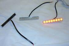 Clear Lens 8 Amber LED Automotive Side Marker ,Sold Each