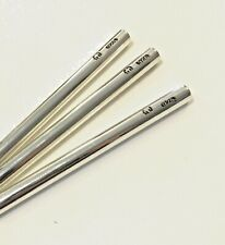 STERLING SILVER Drinking Straws Heavy Reusable Metal Jewelry Quality w Hallmark