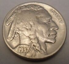 "1937 P INDIAN HEAD ""BUFFALO"" NICKEL  **FREE SHIPPING**"