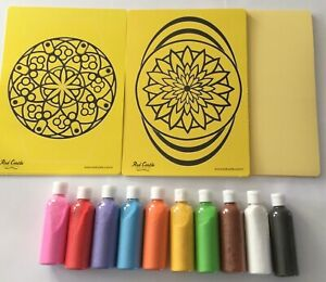 Mindfulness Sand Art Craft Activity Kit 16 A4 Includes Mandala Pictures Sand