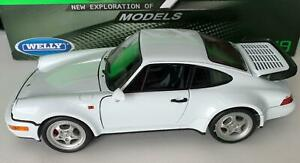 Porsche 911 (964) Turbo in white 1:18 scale model from Welly