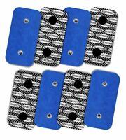 Electrodes pour Compex avec motif argenté -  8 unités 50x100 mm avec 2 SNAPS