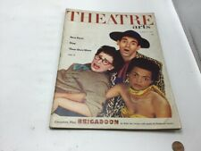 THEATRE ARTS; 1952 Aug; complete play BRIGADOON; cover by John Bennewitz