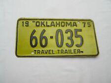 Vintage American Americana travel trailer car number plate 66 035 1975 .
