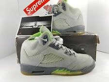 2006 Air Jordan 5 V Green Bean Flint Gray US 7Y silver youth rare OG All 23