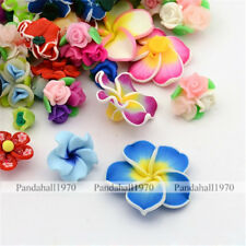 Mixed Color Handmade Polymer Clay Beads Flower Beads Mother's Day Jewelry Making