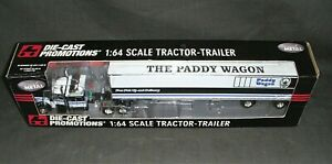 ERTL DIE-CAST PROMOTIONS  THE PADDY WAGON 1/64 SCALE SEMI TRACTOR-TRAILOR NIB