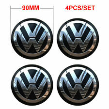 4x 90MM Car Wheel Center Hub Cap Decal Sticker VW Volkswagen Jetta Golf Bettle