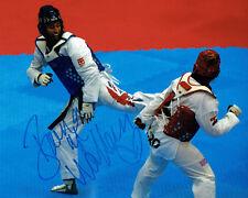 Bianca WALKDEN Taekwondo Olympics Autograph Signed 10x8 Photo 1 AFTAL COA