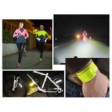 Bracelet Brassard Sécurité réfléchissant Jaune Fluo, vélo,jogging,sports,VTT