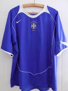 Brasil Brazil Football Shirt XL Away 2004/06 Jersey Soccer Camiseta