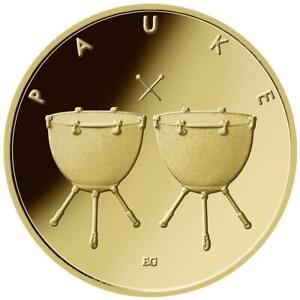 Deutschland - 50 Euro 2021 - Pauke (4.) - Buchstabe J - 1/4 Oz Gold ST