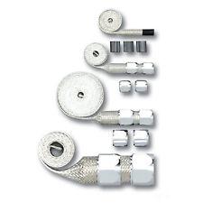 Chrome Chevy Braided Hose Sleeve Kit - Radiator, Vacuum, Heater & Fuel Line Hose