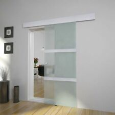 vidaXL Sliding Door Aluminium and Glass Track System Gate Home Room Furniture
