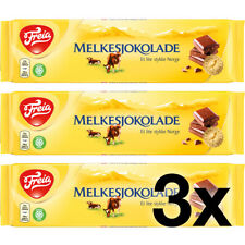 3x Freia Original Melkesjokolade 200g - Norwegian Chocolate with milk chocolate
