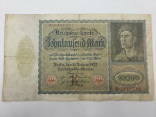 """1922 Germany 10,000 Marks Banknote """"Reichsbanknote"""" INFLATION CURRENCY"""