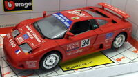 Burago 1/18 Scale Diecast - 310135 Bugatti EB 110 Racing Red