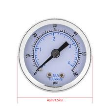 """Manometro Misuratore di Pressione Acqua 1/8""""BSPT 0-4bar Psi Attacco Posteriore"""