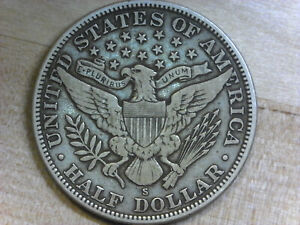 1911-S Barber Half Dollar 50c Fine Details - SHARP XF - Excellent Condition