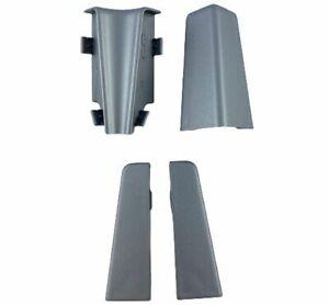 Ecken Innenecke Außenecke Endkappe li/re für Sockelleisten 58mm silber Fußleiste
