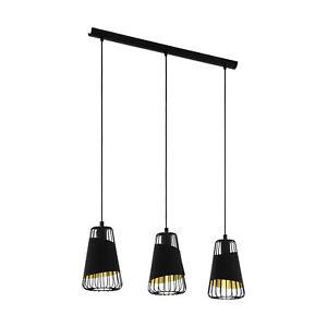 Modern Chandelier Black Design And Gold 3 Lights Glo 49448 Austell