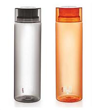 Cello H2O 1 Litre Water Bottle (Pack of 2) (Black and Orange)