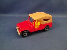Matchbox Jeep CJ-6 -Red- 1977 Perfect