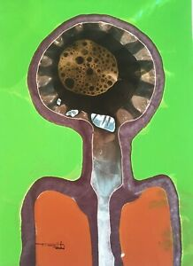 Tonito Original Fine art painting.Organic.PORTRAIT 2.Unlike any other artwork