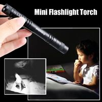 R3 LED 10000 Lumen Lamp Clip Mini Flashlight Light Torch Penlight AAA
