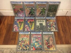Lot of (11) CGC Graded Comics Spiderman, Secret Wars, Dazzler, Daredevil etc