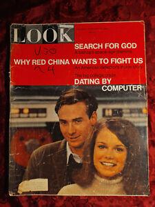 LOOK February 22 1966 Computer Dating Gypsy Rose Lee Battle Britain Marat/Sade