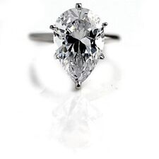 1.60 Carat Pear Shape Cut Diamond Engagement Wedding Ring 14k White Gold GSI1