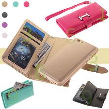 For iPhone 6 6S Plus Detachable Case Cover Zipper Wallet Card Purse Magnetic Bag