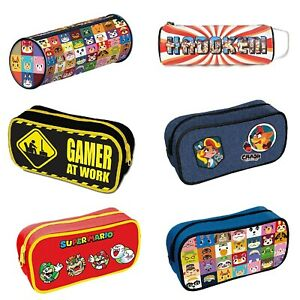 Genuine Gaming Zipped Pencil Case Stationery Animal Crossing Halo Call Of Duty
