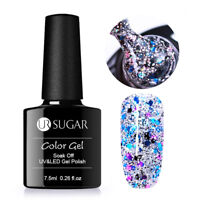 7.5ml Soak Off UV Gellack Pailletten Nagellack Maniküre Dekoration DIY UR SUGAR