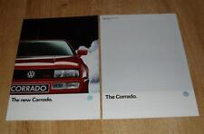Volkswagen VW Corrado Brochure & Specifications 1989 - 2.0 16v & G60