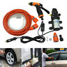 12V Portable 80W 160 PSI High Pressure Car Electric Washer Hose Wash Pump Kit