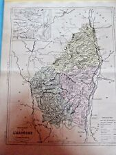 Old Map 1900 France Département Ardèche Privas Largentière Vallon Annonay