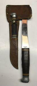 Vintage Ka-Bar Hatchet Axe & Knife Combo Set w Leather Sheath Made in USA