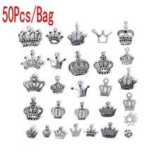 Tibetan Silver Random Mixed Princess Crown Charms Pendants Craft Jewellery UK