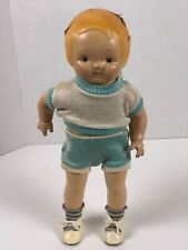 Early Composition Campbells Kid Composition & Cloth Doll by Horsman